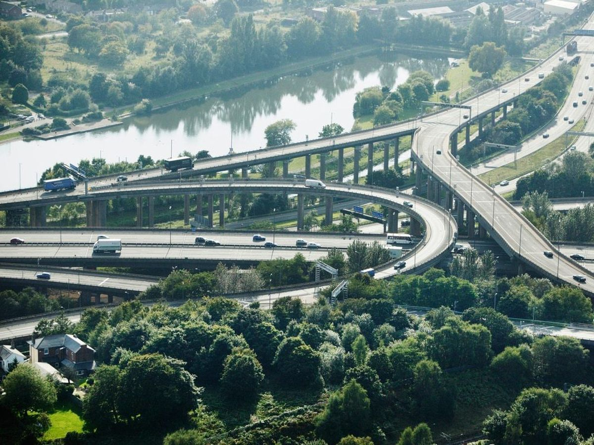 Even Spaghetti Junction is surprisingly green, just one area of the urban West Midlands dominated by trees and water.