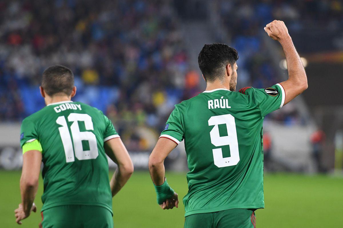 Raul Jimenez of Wolverhampton Wanderers celebrates after scoring a goal to make it 1-2 from a penalty kick. (AMA/Sam Bagnall)