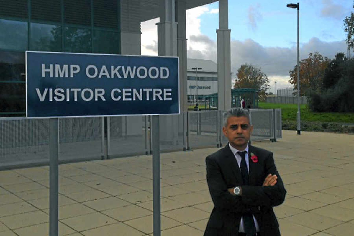 Shadow Justice Minister Sadiq Khan MP on his visit to HMP Oakwood