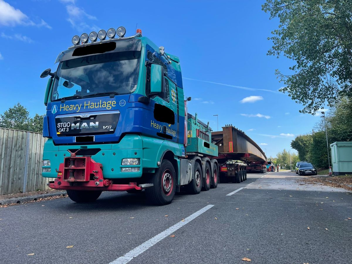 The new beams have been delivered. Photo: National Highways