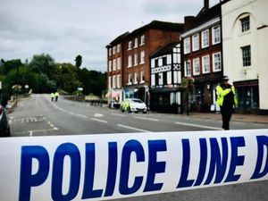 Police at the scene in Bewdley. Photo: Mike Horton