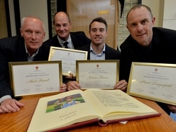 Delight for Kristian Thomas as he joins Wolverhampton Sporting Hall of Fame - WITH PICTURES