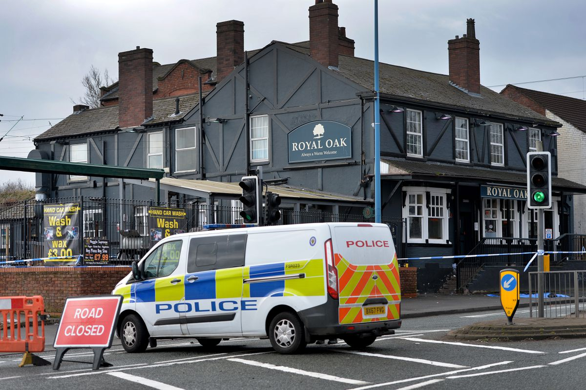 Just last weekend police were investigating a stab attack during a brawl outside the Royal Oak pub, in Dudley Port