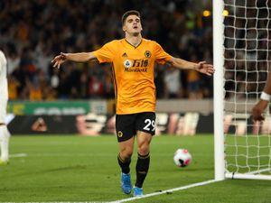 Ruben Vinagre of Wolverhampton Wanderers celebrates after scoring a goal to make it 3-0 (AMA)