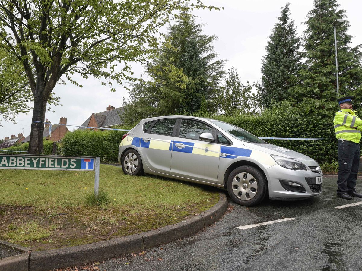 Police at the scene in Abbeyfields, Great Haywood. Photo: SnapperSK