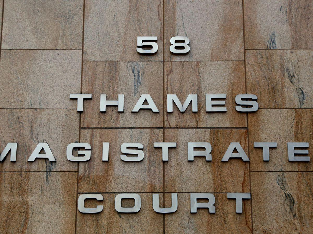 Thames Magistrates Court in London (Gareth Fuller/PA)