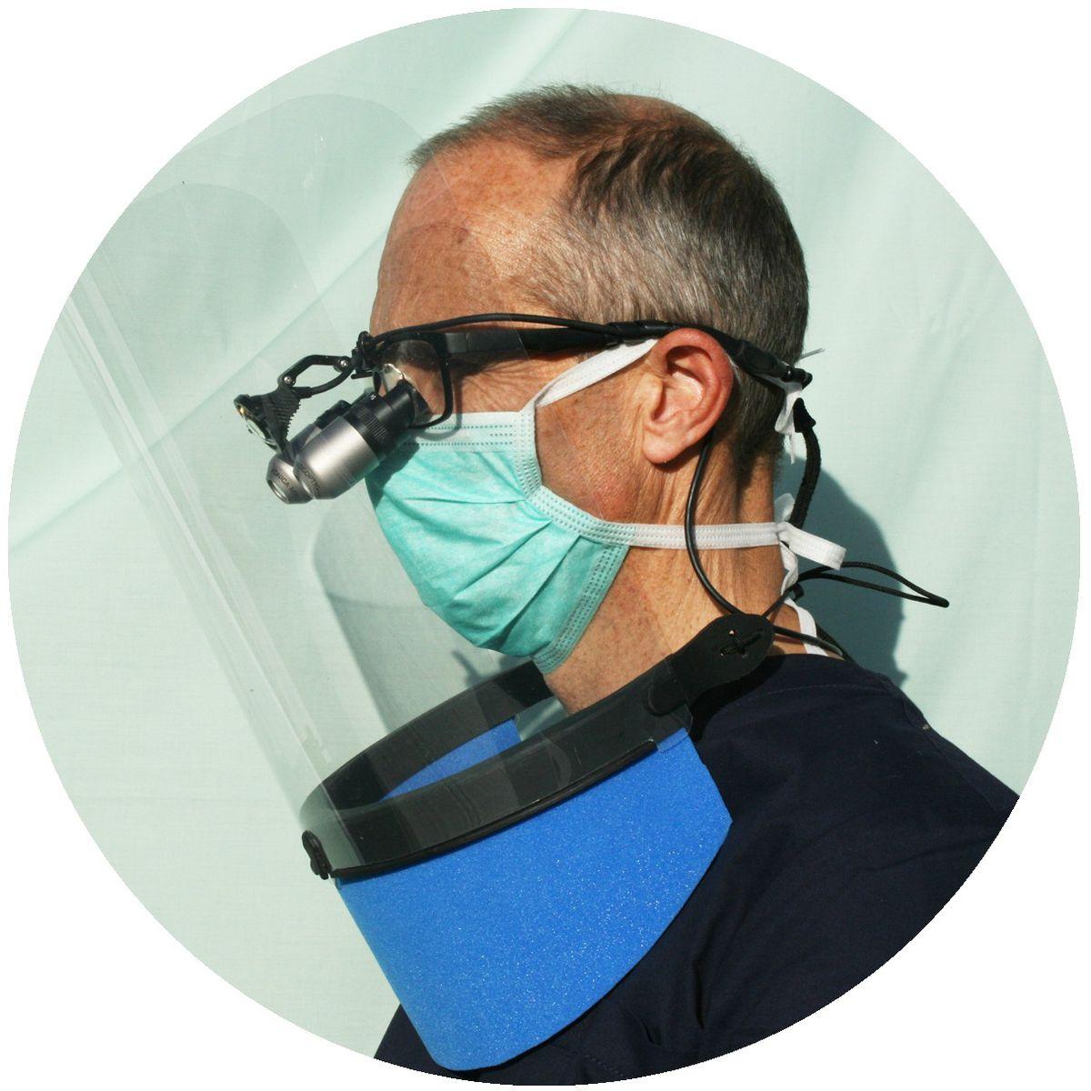 Richard Howarth wearing the Provizage visor