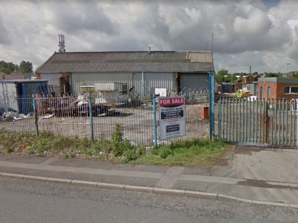 Bridge Trading Estate on St Peter's Road, Dudley. Photo: Google Street View