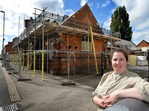 Pelsall Methodist Church is getting a new roof among other repairs to the building. Pictured is Rev. Liz Dunning