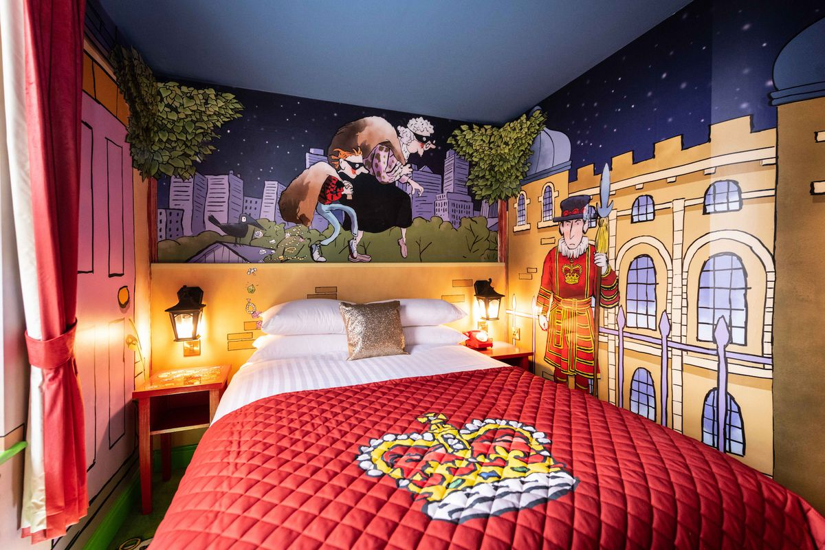 One of the Gangsta Granny-themed rooms at Alton Towers Hotel
