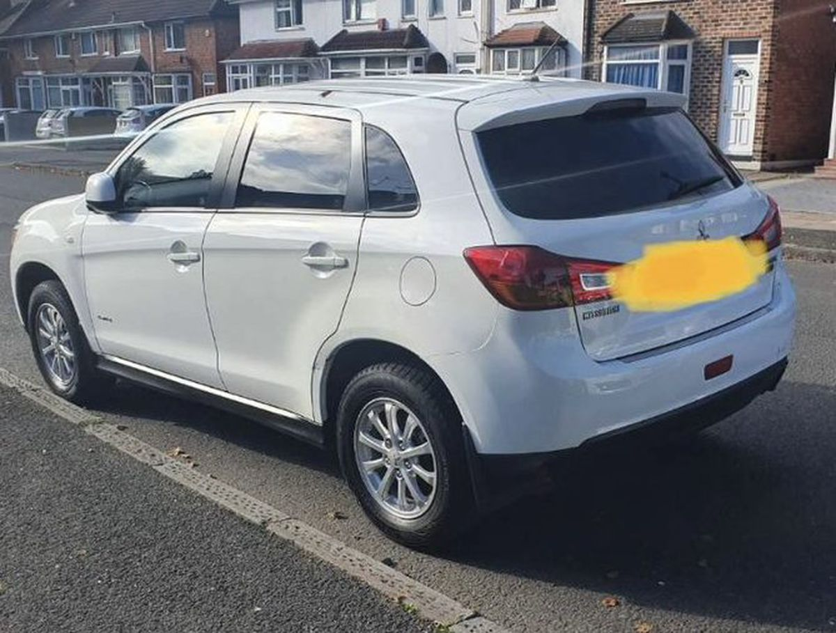The learner was stopped in this Mitsubishi driving home from his 10th failed test. Picture: West Midlands Police