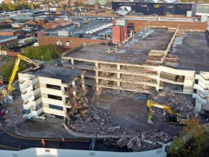 Demolition work has started to tear down the eyesore multi-storey car park in West Bromwich town centre