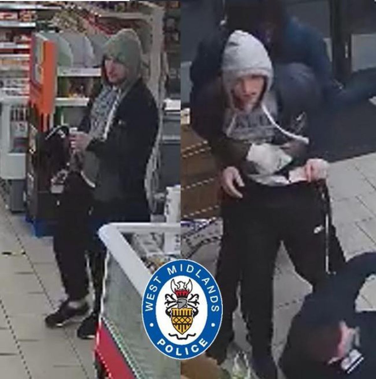 Police have released CCTV images of a man they would like to speak to. (Image: @TiptonWMP)