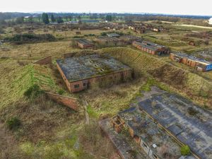 The derelict Royal Ordnance Factory in Featherstone, seen in 2017