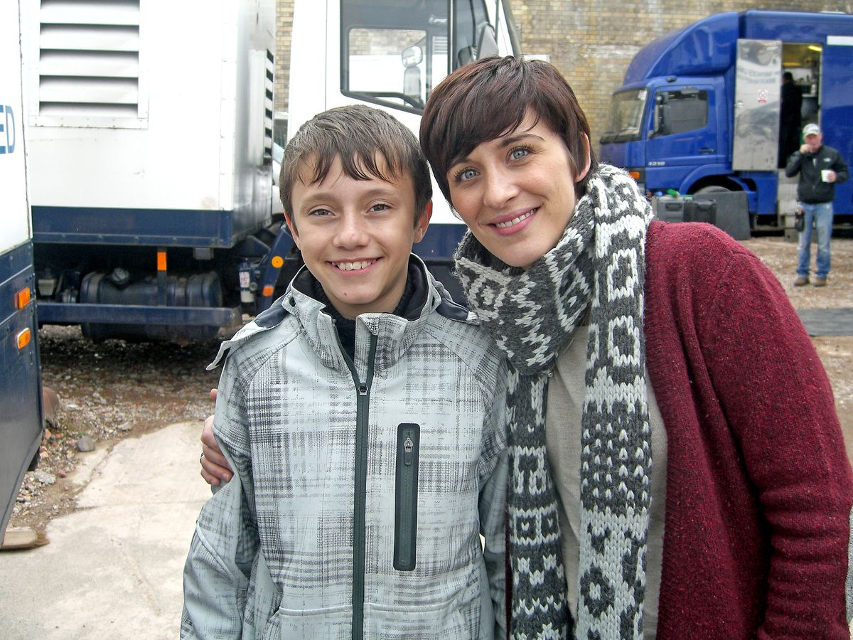 An old image of Gregory Piper with one of the show's stars Vicky McClure