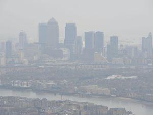 The London skyline through a haze of pollution