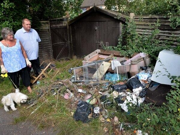 Families' fury as scrap dumped behind homes in Walsall