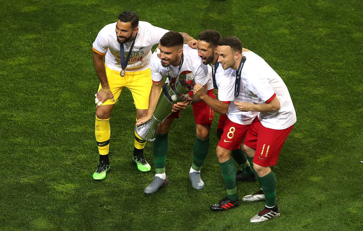 Patricio and his Wolves team-mates after Portugal won the Nations League