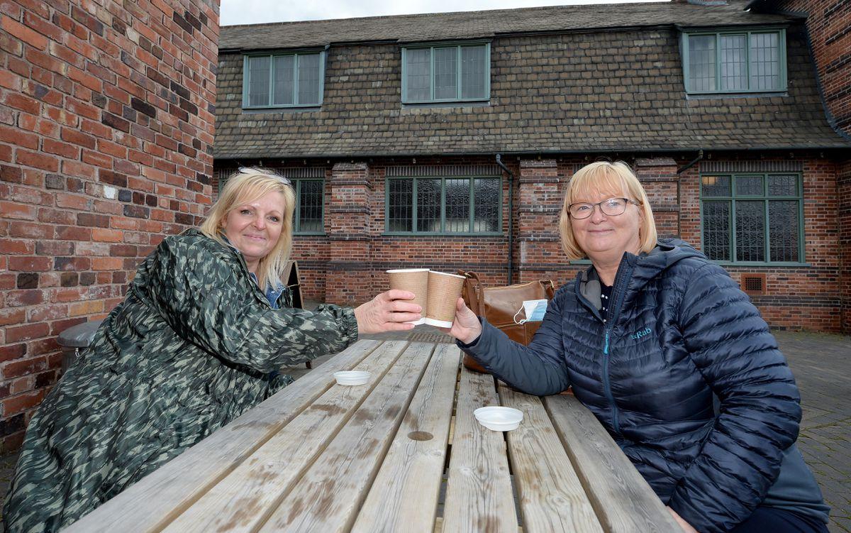 Liz Harris and Liz Bevan from West Bromwich