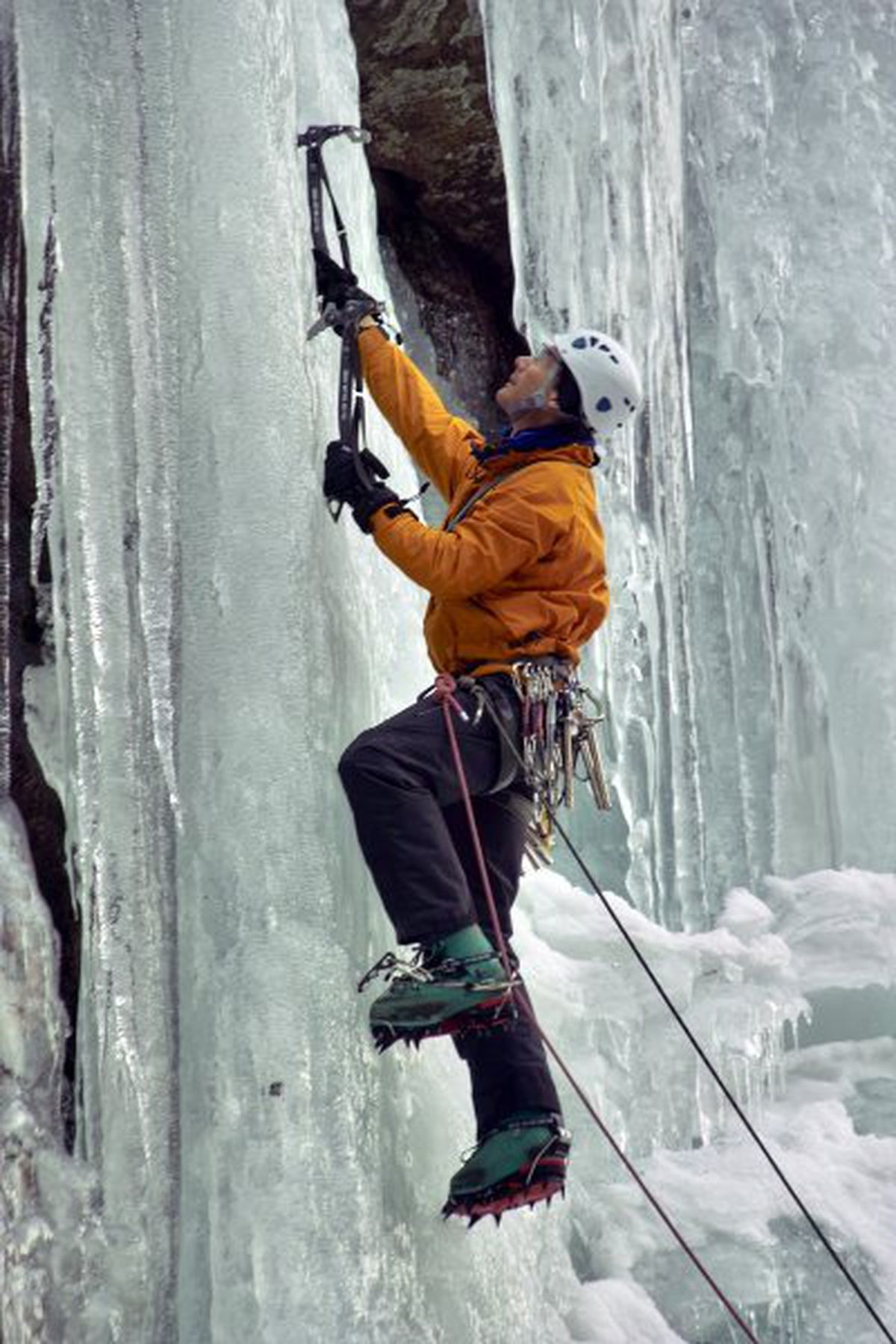 Ice climbing requires more specialized equipment