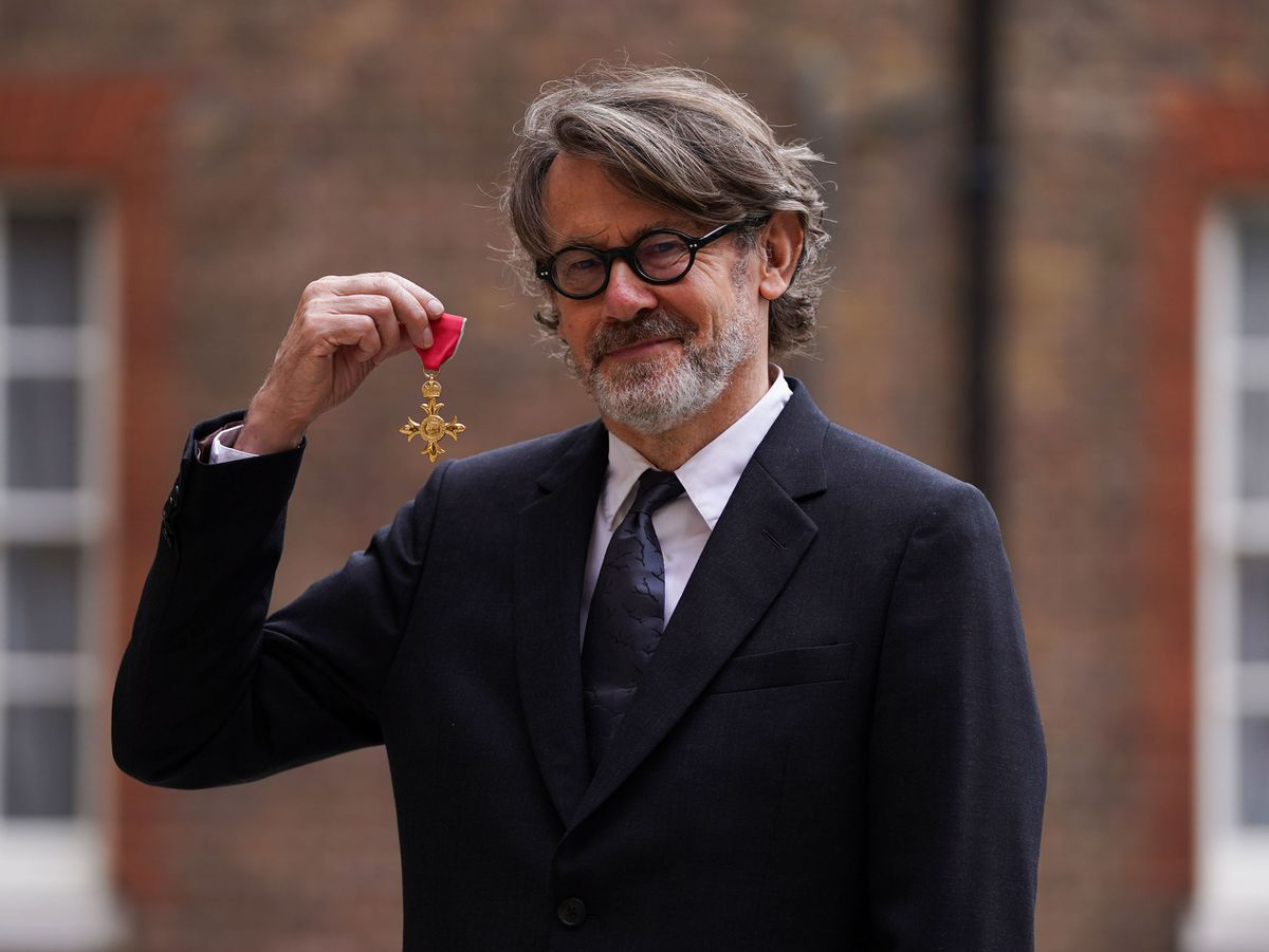 Nigel Slater after being made an OBE for services to cookery and to literature