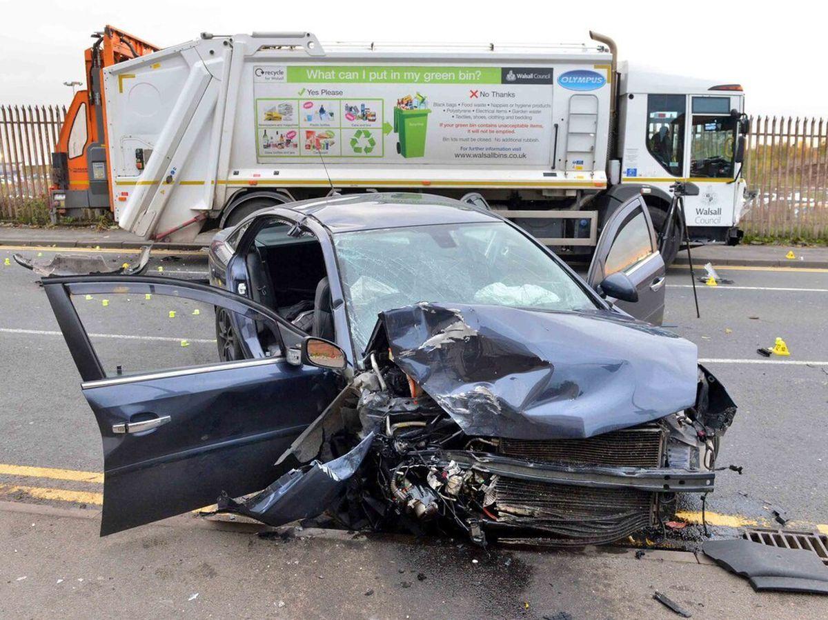 The crash happened at around