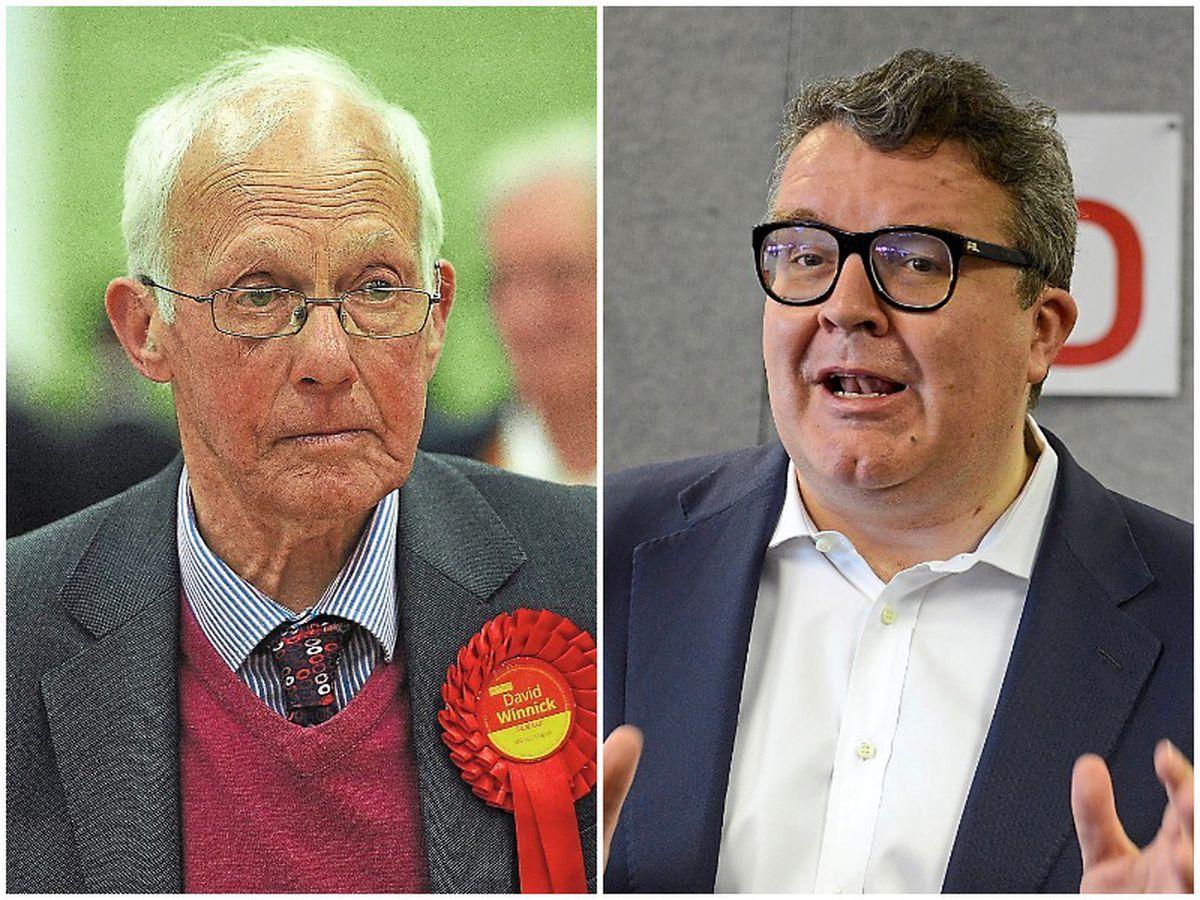 David Winnick and, right, Tom Watson