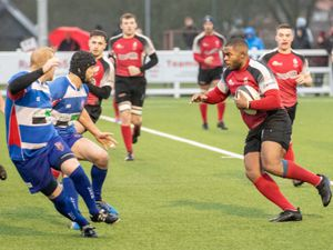 Walsall's Richard Clarke goes on the attack