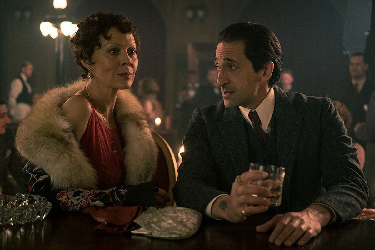 Aunt Polly, played by Helen McCrory, and Adrien Brody in the hit show. Picture: Robert Viglasky