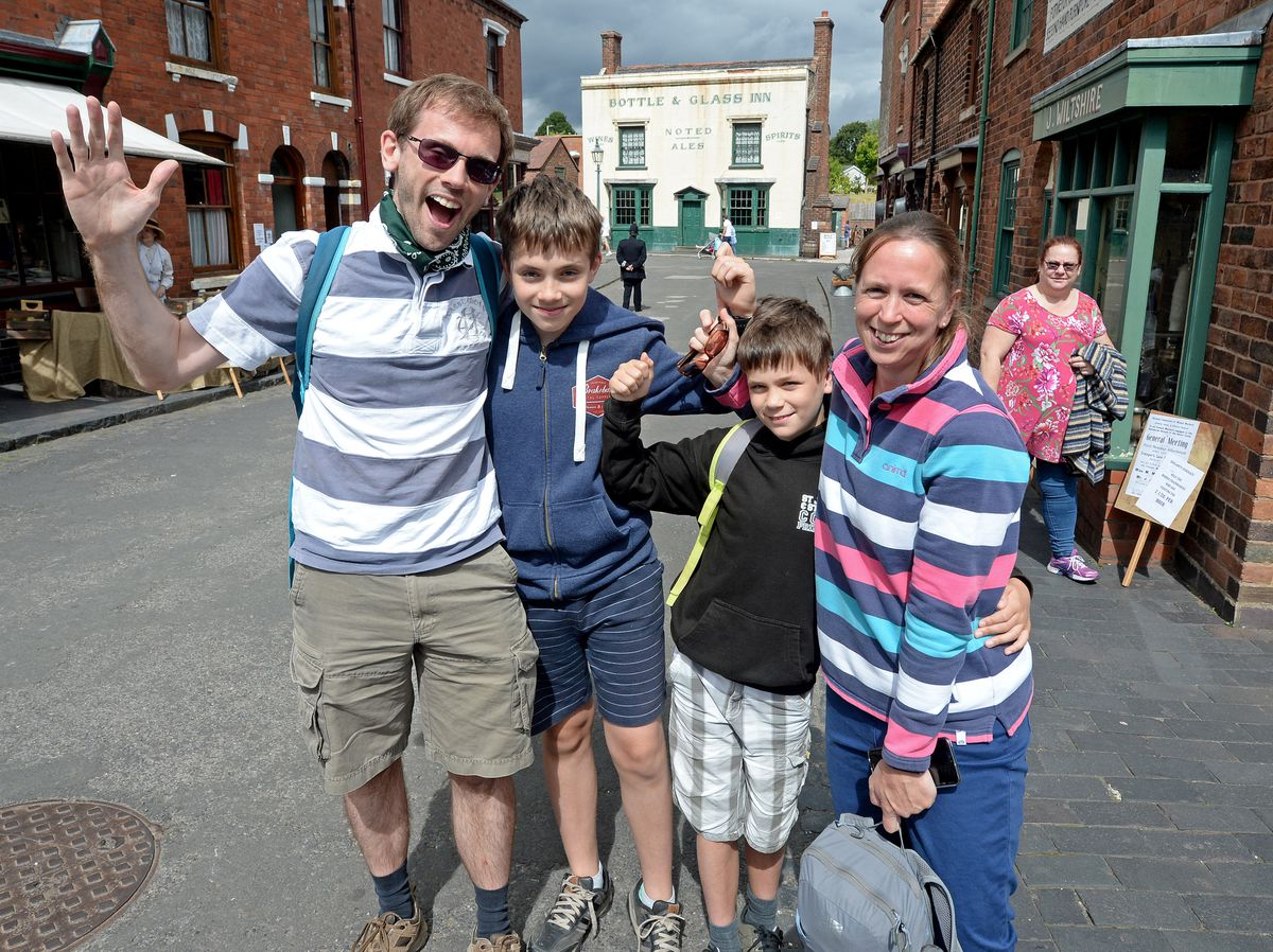 Ben Waine, with family Harry, 13, Daniel, 11 and Alix from Buckinghamshire