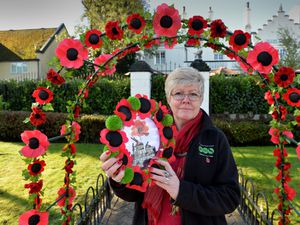 Councillor Sharon Jagger of Friends of Hednesford which is appealing for hand-crafted poppies to display