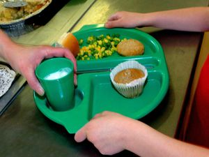 """EMBARGOED TO 2230 FRIDAY OCTOBER 16..File photo dated 28/08/09 of a school meal being served. Labour is calling on the Government to provide free school meals during the holidays until the spring. PA Photo. Issue date: Friday October 16, 2020. Shadow education secretary Kate Green has said """"now is the time to act"""", as she warned more than a million children could be left hungry over the school holidays due to the impact of the pandemic. See PA story EDUCATION SchoolMeals. Photo credit should read: Chris Radburn/PA Wire."""