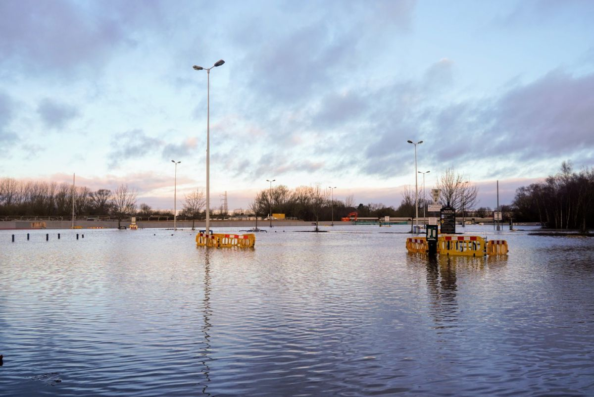 Flooding in Stafford. Photo: @z70photo