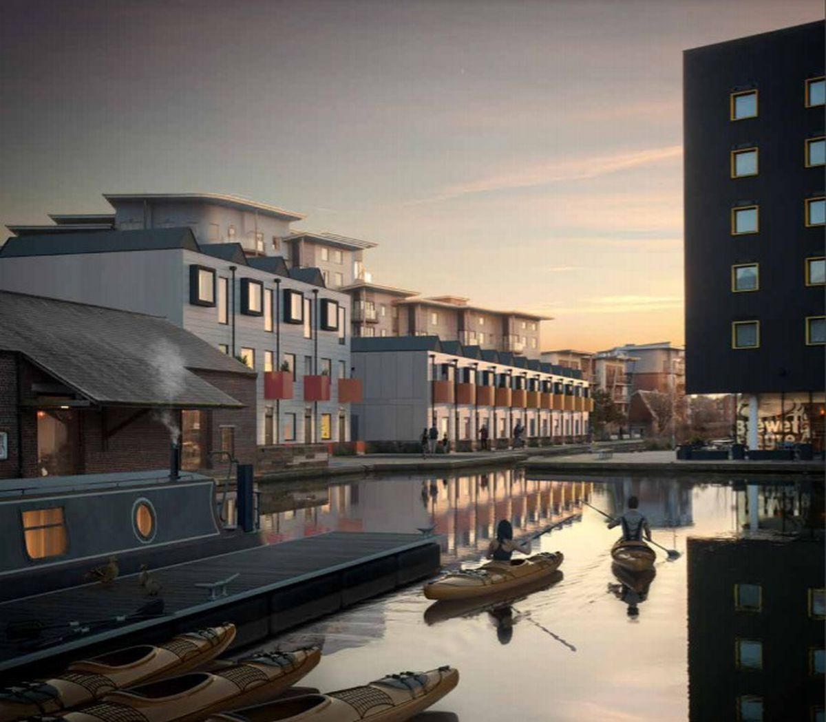 Artist impression of the proposed Walsall Waterside development. PIC: Shed KM