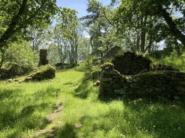 The village ruins are a Scheduled Ancient Monument (Goldcrest/PA)