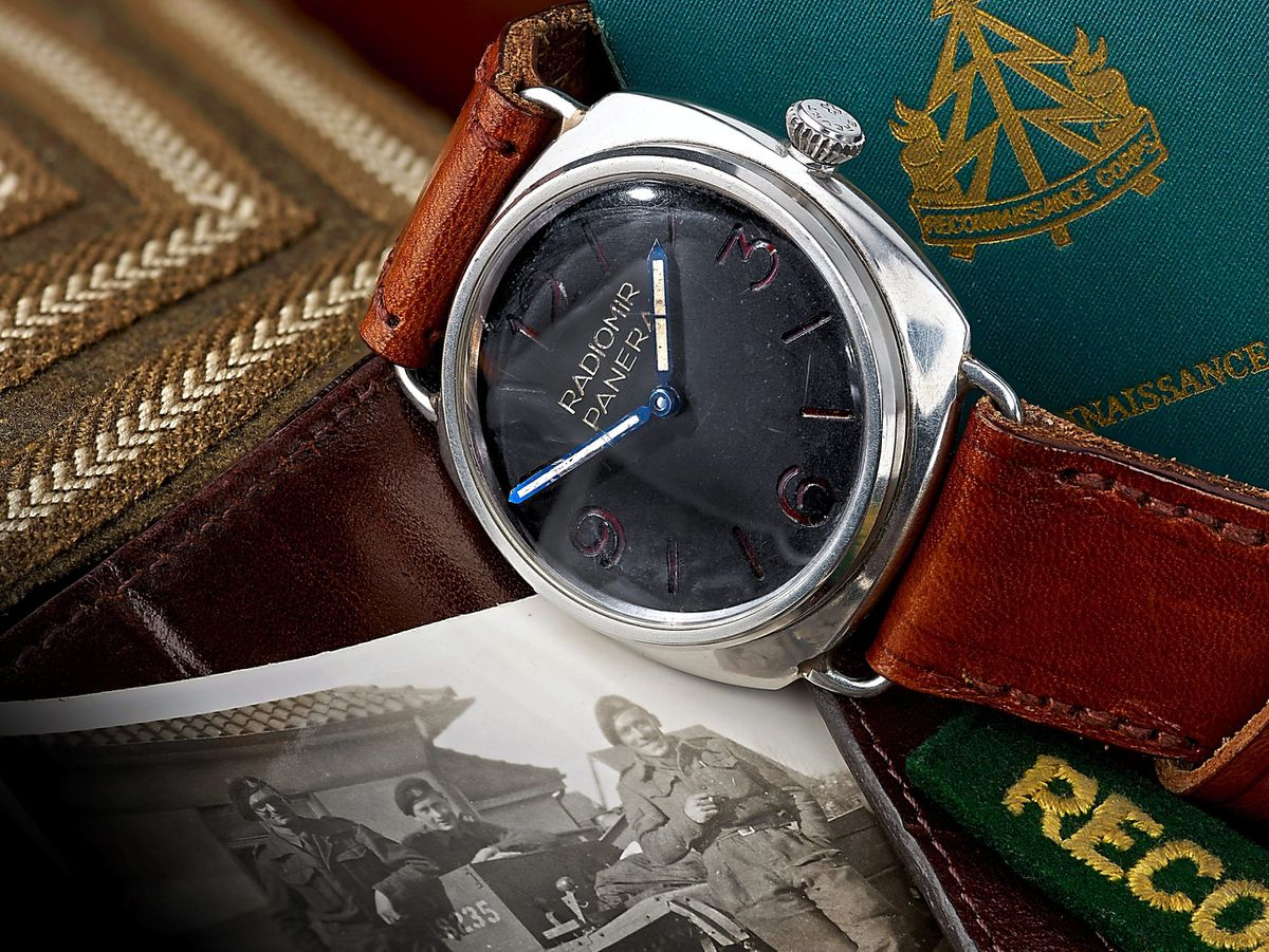 The Rolex Panerai Military Diver's watch with authentic documents that sold for £52,000 at auction