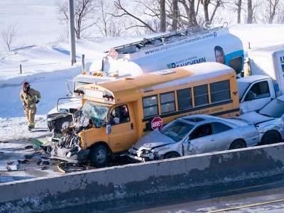 Blizzard-like conditions cause 200 vehicle pile-up in Canada