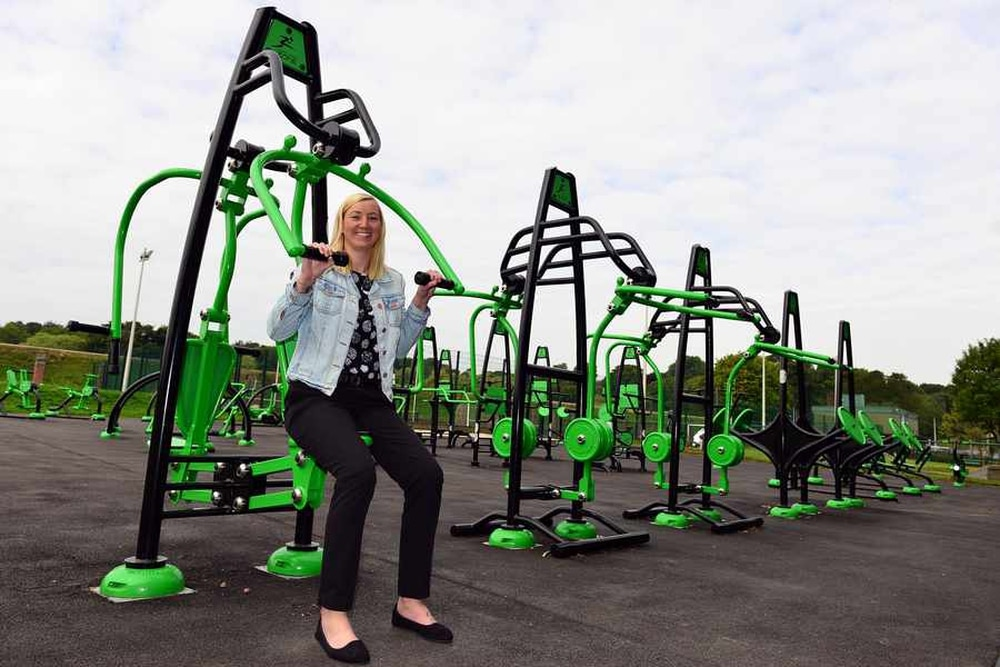 futuristic fun free fitness enormous outdoor gym opens