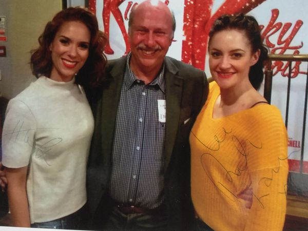 Robert Hulme meeting some of the castof Kinky Boots at the Wolverhampton Grand Theatre