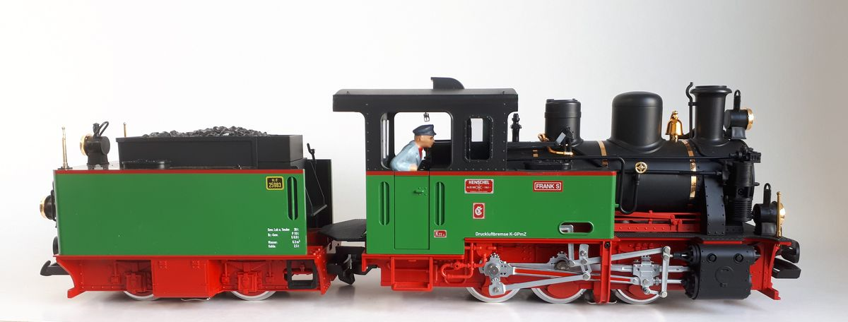 A G gauge locomotive.
