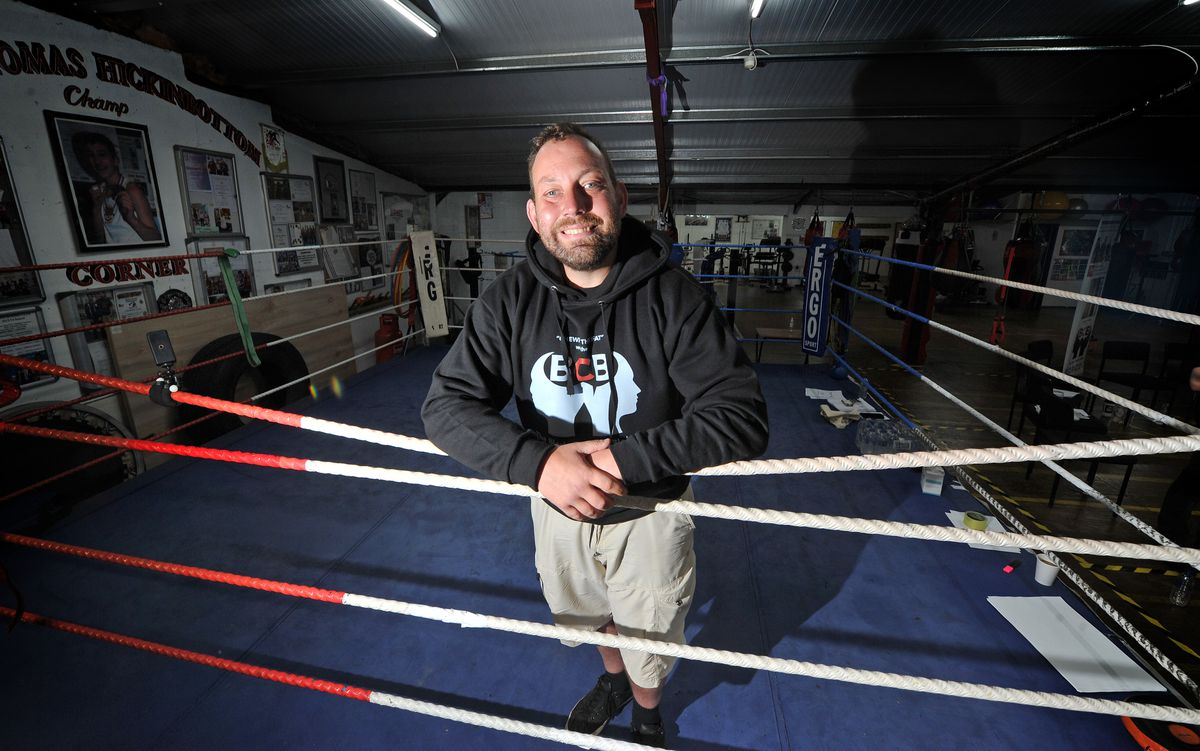 Lions Boxing Club, Brierley Hill, and their coach, Kev Dillon,