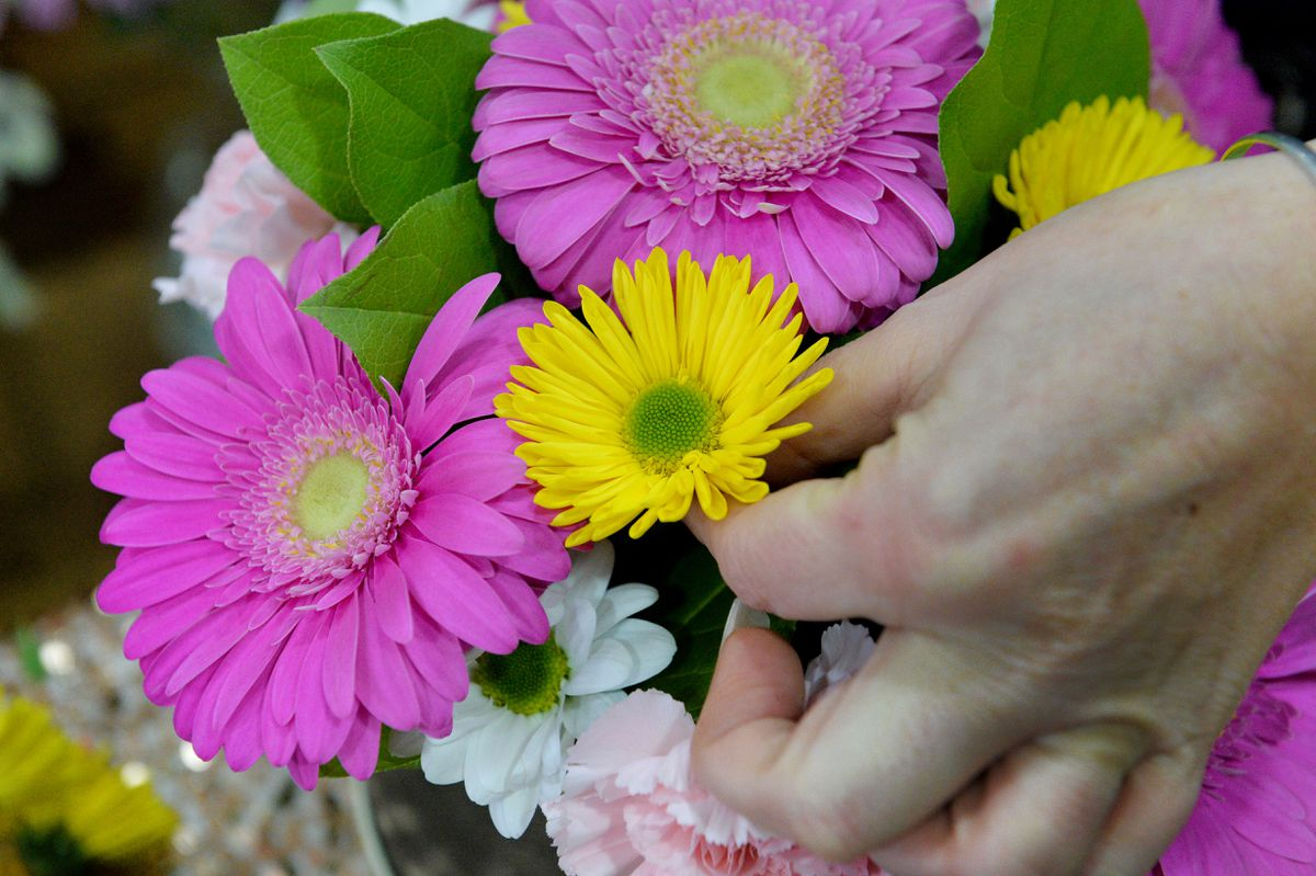Choosing the best flowers has become instinctive for Leanne