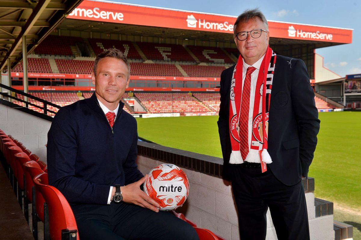 Leigh Pomlett (Chairman), Head Coach/ manager: Matt Taylor and Jamie Fullerton (Director of Football)..