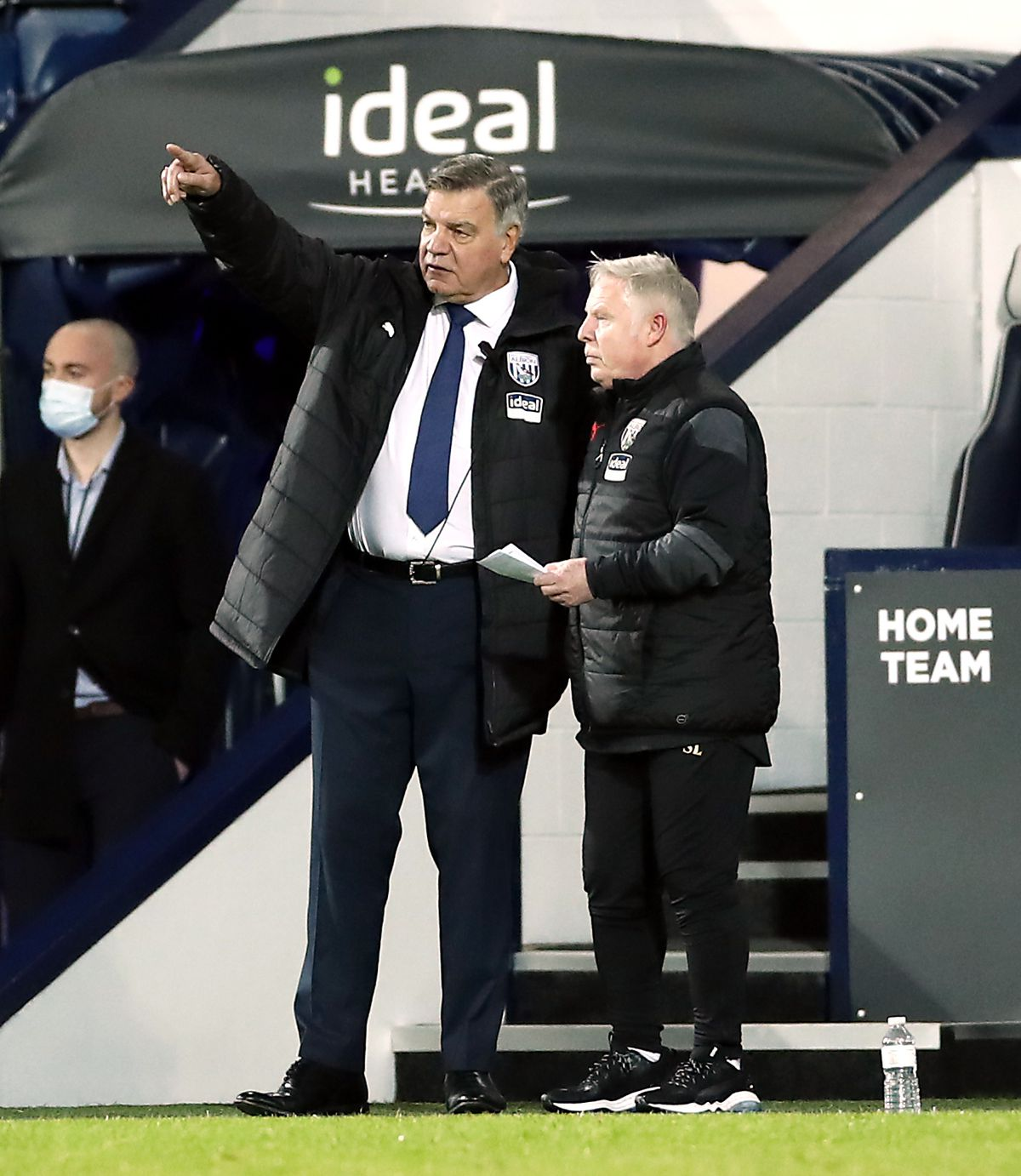 West Bromwich Albion manager Sam Allardyce and assistant Sammy Lee (right)