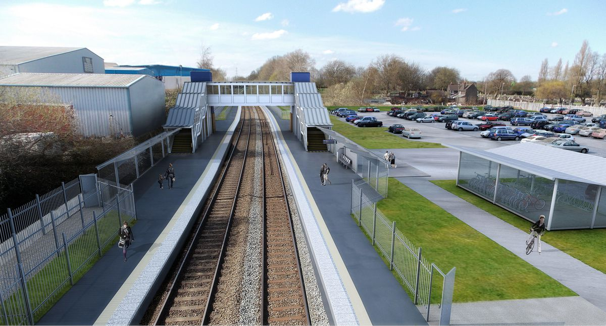How a reopened Darlaston station could look