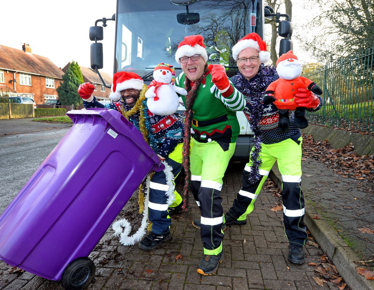 Wolverhampton's famous binmen are aiming to claim the Christmas number one