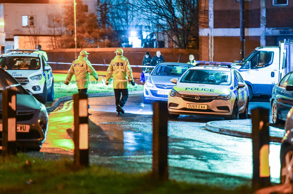 The scene of the stabbing at The Hawthorns train station. Photo: SnapperSK