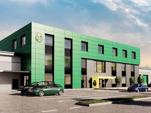 An artist's impression of the proposed location for a new West Midlands Ambulance Service hub in Oldbury. Image: Webb Gray