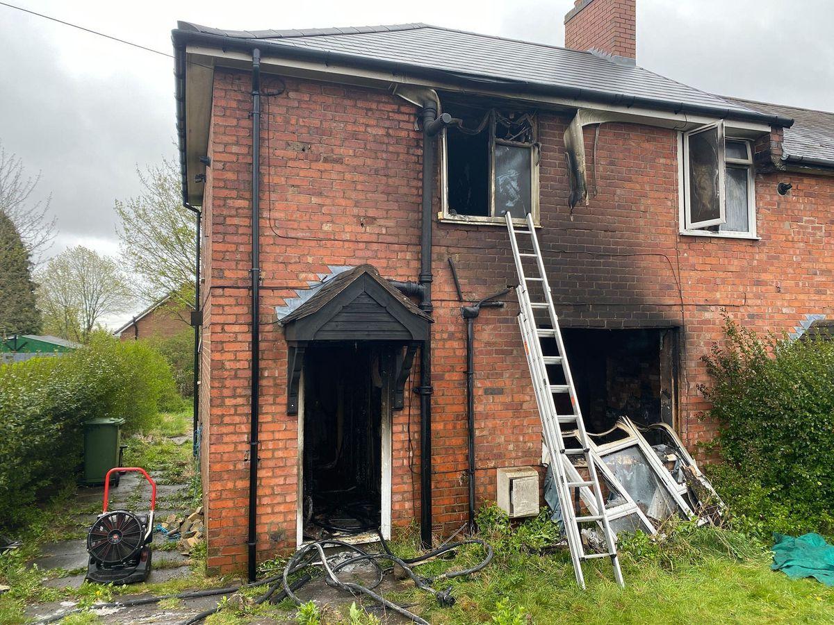 The scene in Beacon Lane, Sedgley