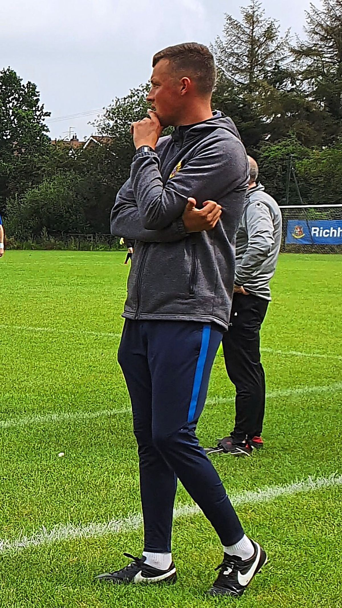 The lure of football has seen him coaching at Rectory Rangers